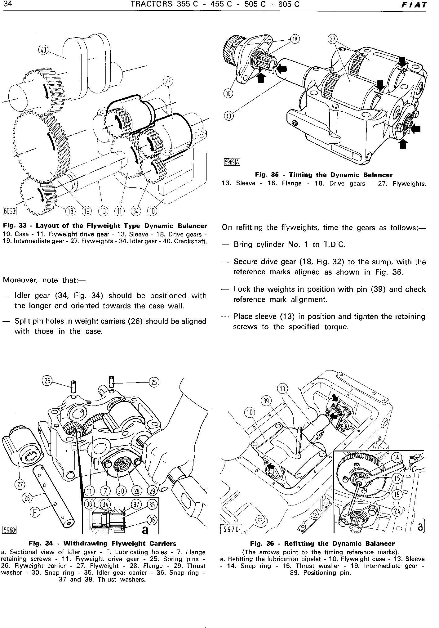 Fiat 355C, 455C, 505C, 605C Crawler Tractor Workshop Service Manual (6035416200) - 2