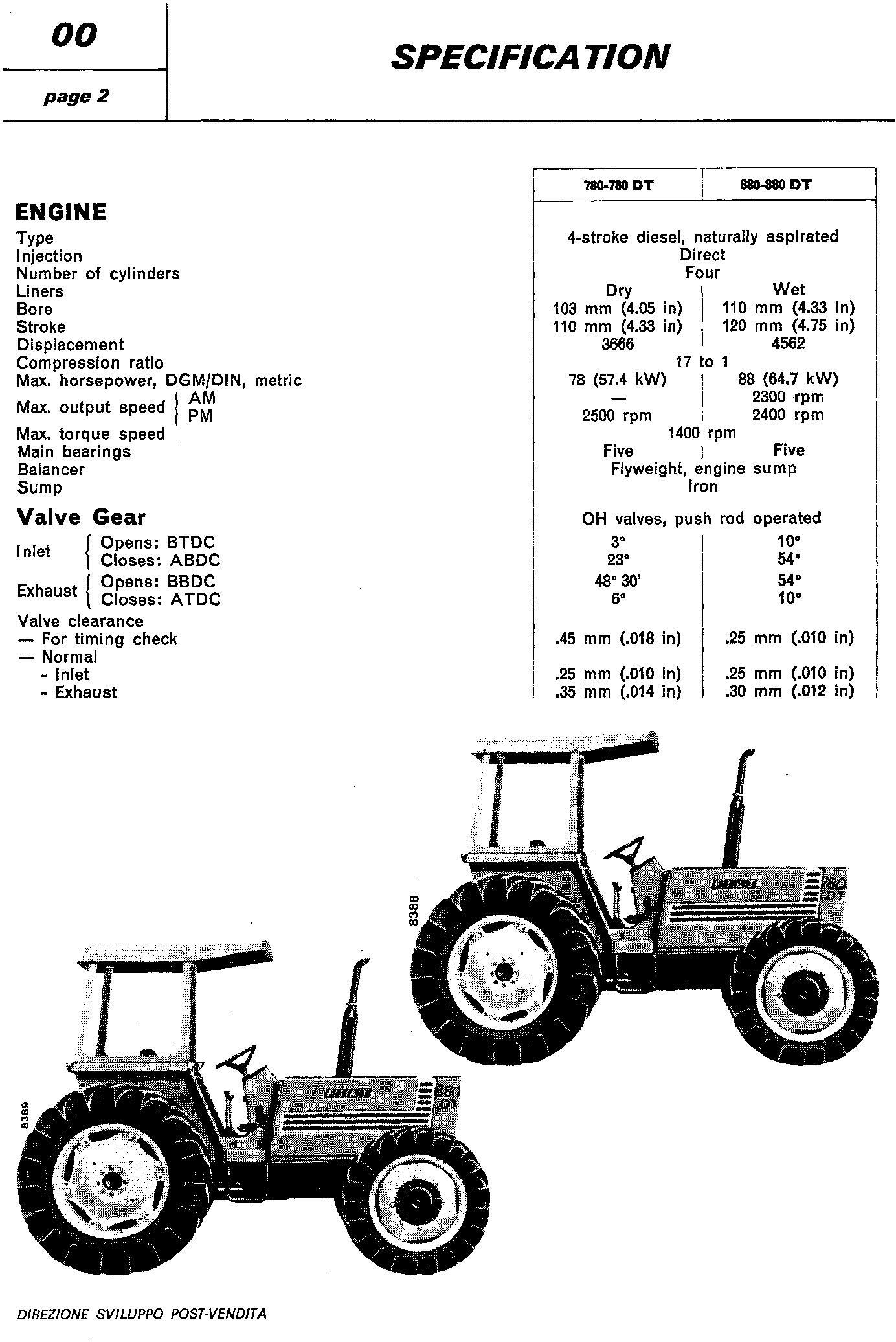 Fiat 780, 780DT, 880, 880DT Tractor Workshop Service Manual (6035420100) - 1