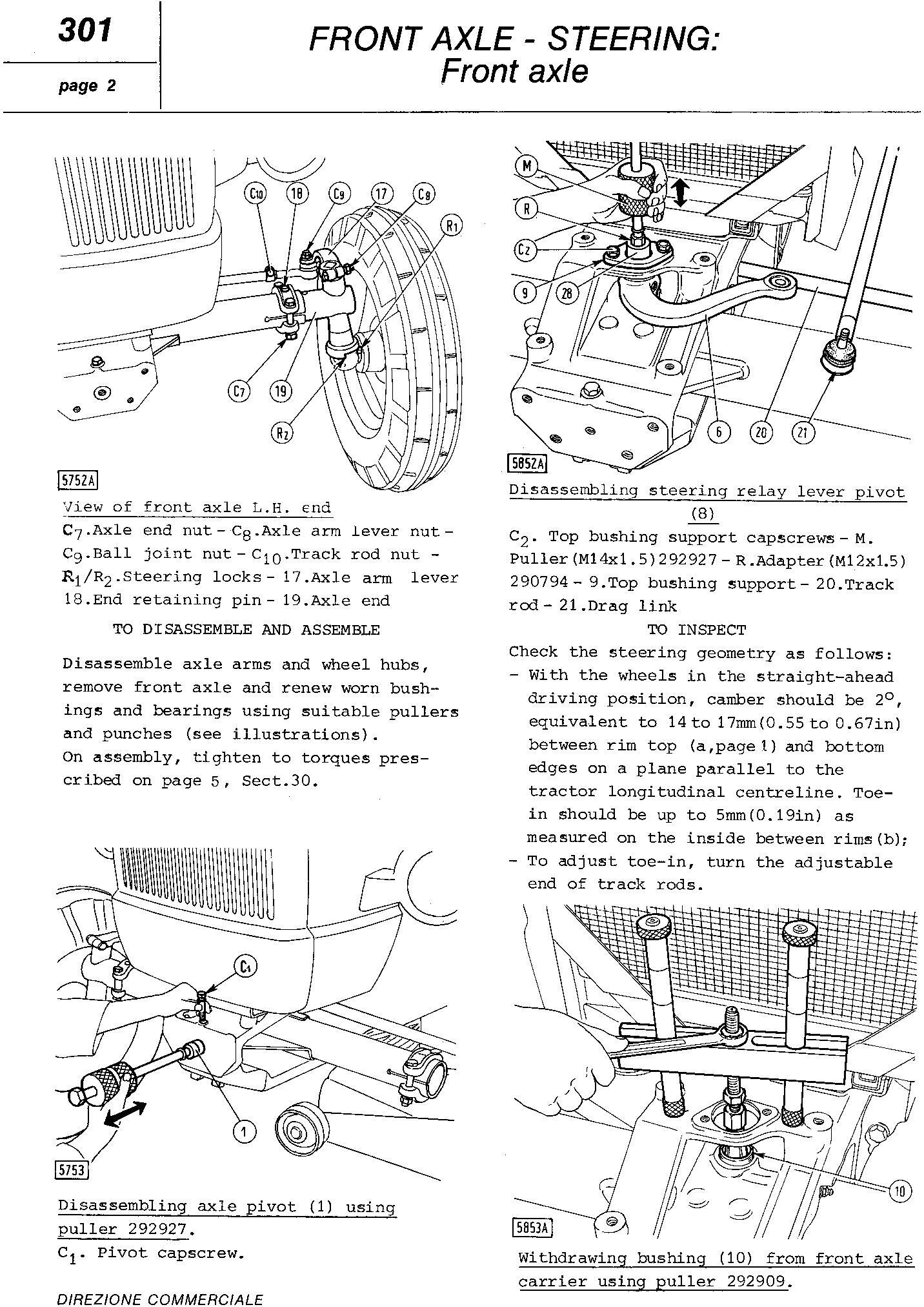 Fiat 450, 450S, 450 DT, 450 DTS Tractor Service Manual (6035420300) - 3