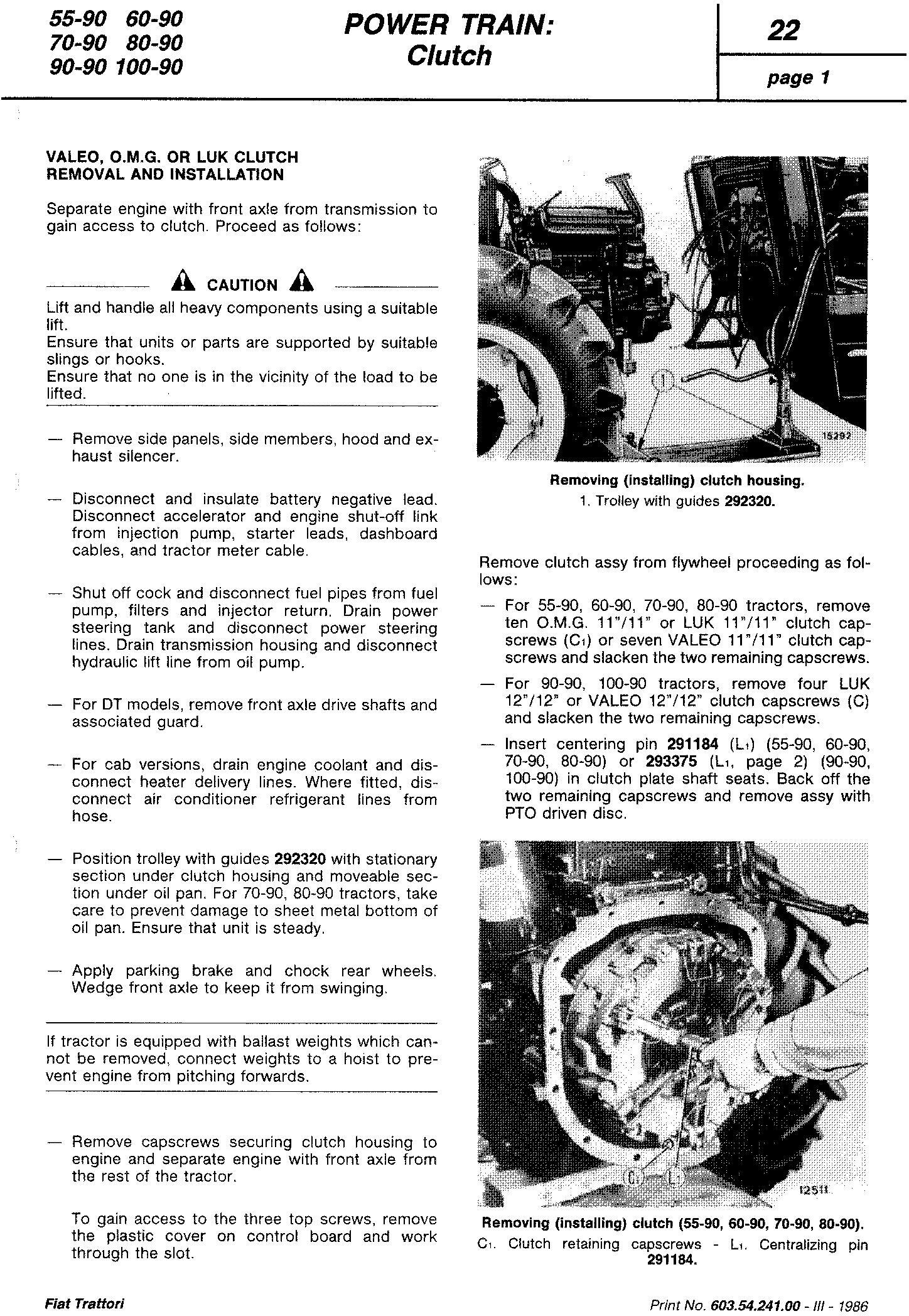 Fiat 55-90, 60-90, 70-90, 80-90, 90-90, 100- 90 Tractor Service Manual (6035424100) - 3