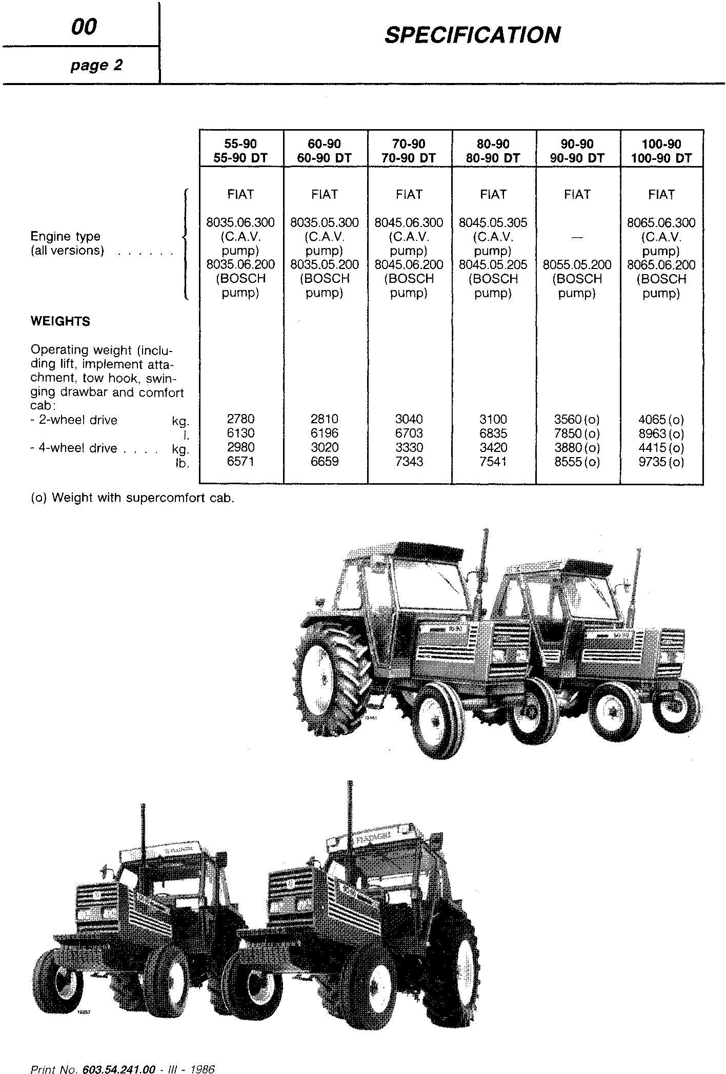 Fiat 55-90, 60-90, 70-90, 80-90, 90-90, 100- 90 Tractor Service Manual (6035424100) - 1
