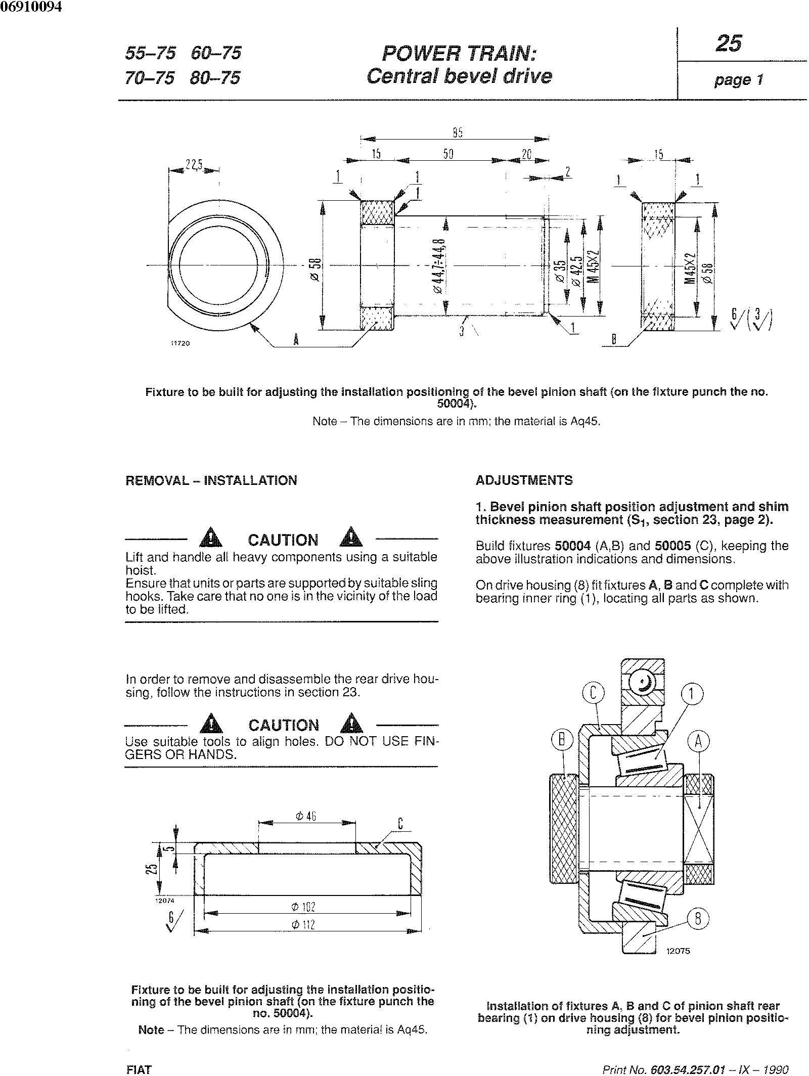 Fiat 55-65,60-65,70-65,80-65, 55-75,60-75,70-75,80-75, 465C, 555C, 665C, 765C Tractor Service Manual - 3