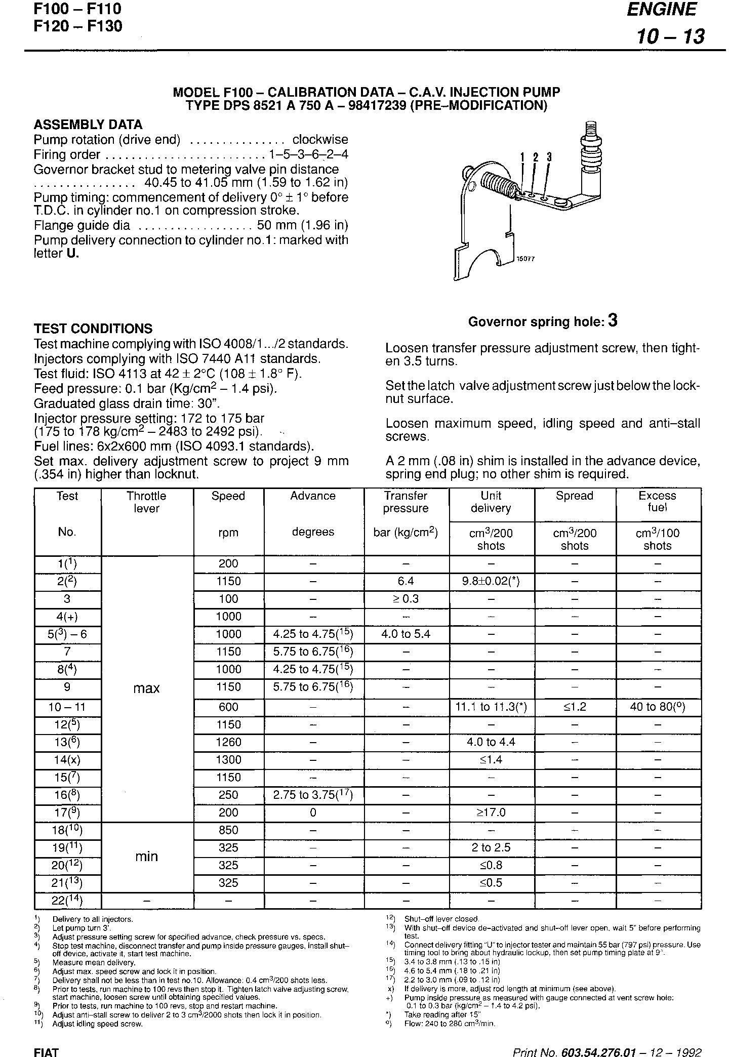Fiat F100, F110, F120, F130 Turbo Tractor Service Manual (6035427601) - 1