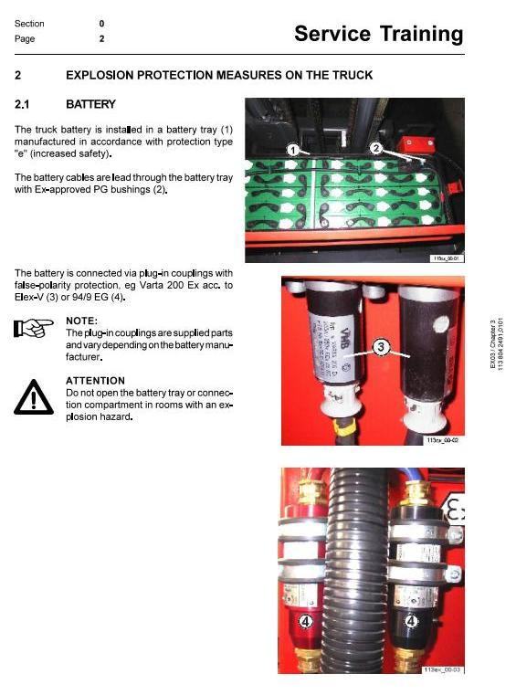 Linde R14, R16, R20 Electric Explosion Protected Reach Truck 113 Series Service Training Manual - 1