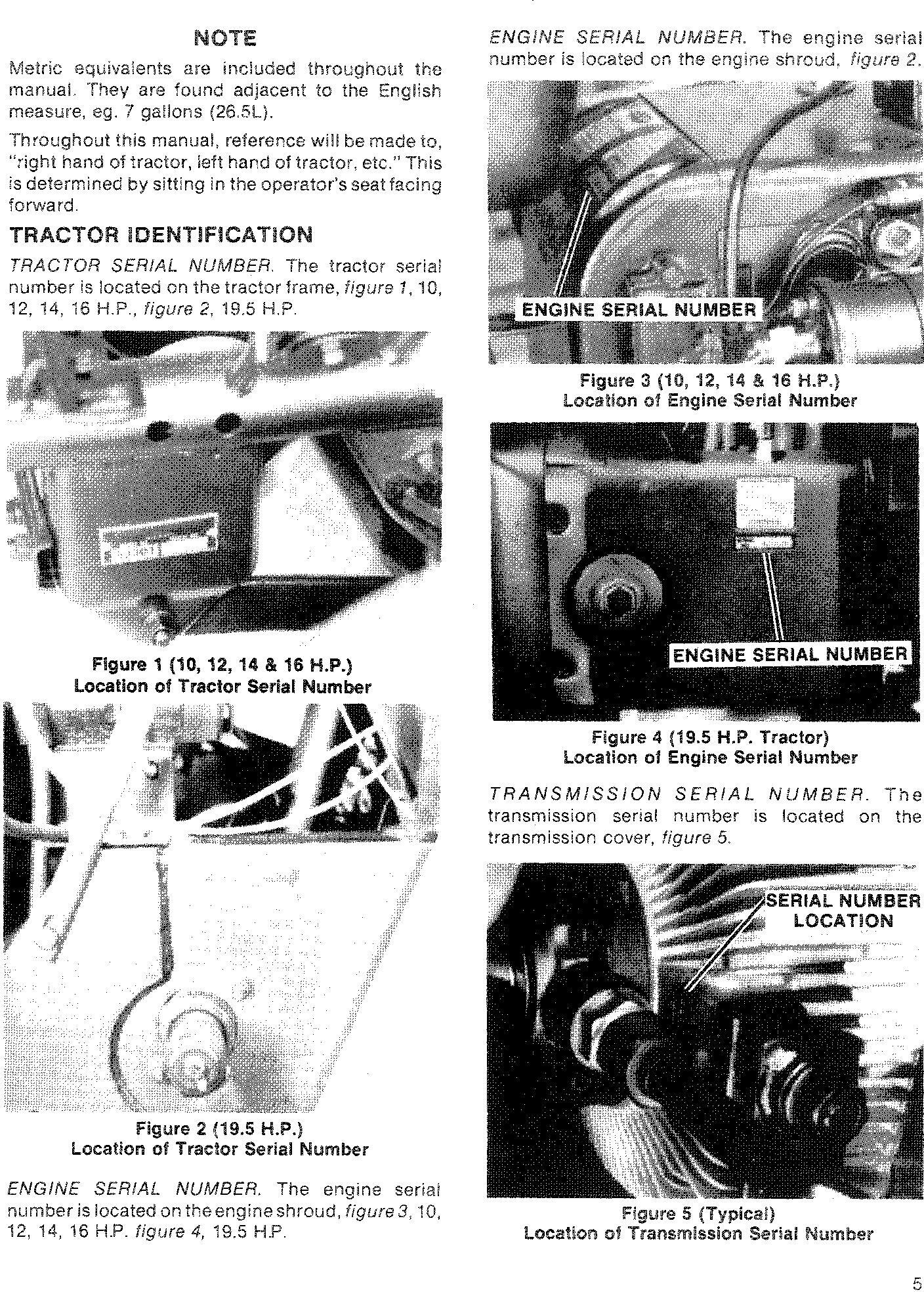 Ford 100, 120, 125, 145, 165, 195 Lawn & Garden Tractor Service Manual - 1