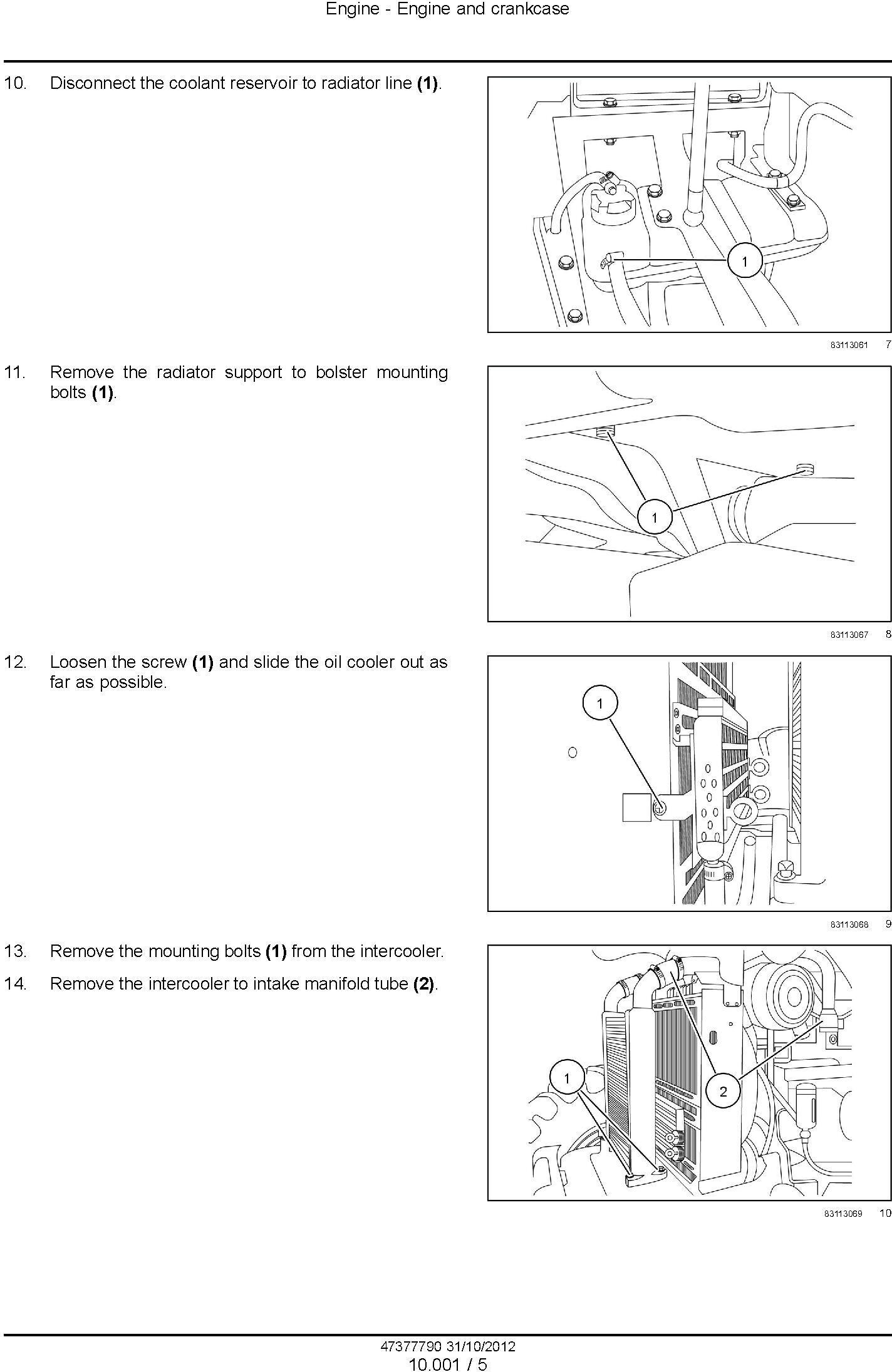 New Holland TS6.110 (HC), TS6.120, TS6.120HC, TS6.125, TS6.140 Tractor Complete Service Manual - 1