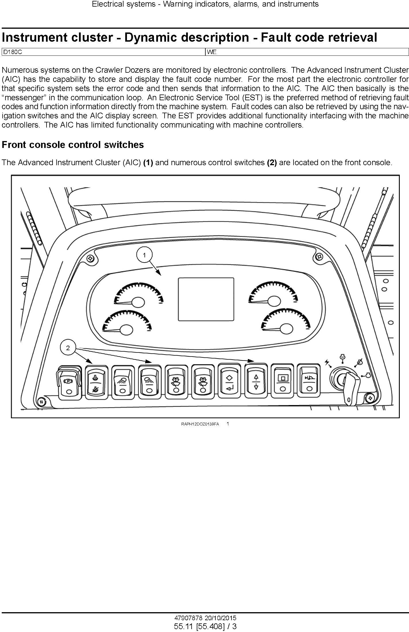 New Holland D180C Stage IIIB Crawler dozer Service Manual - 3