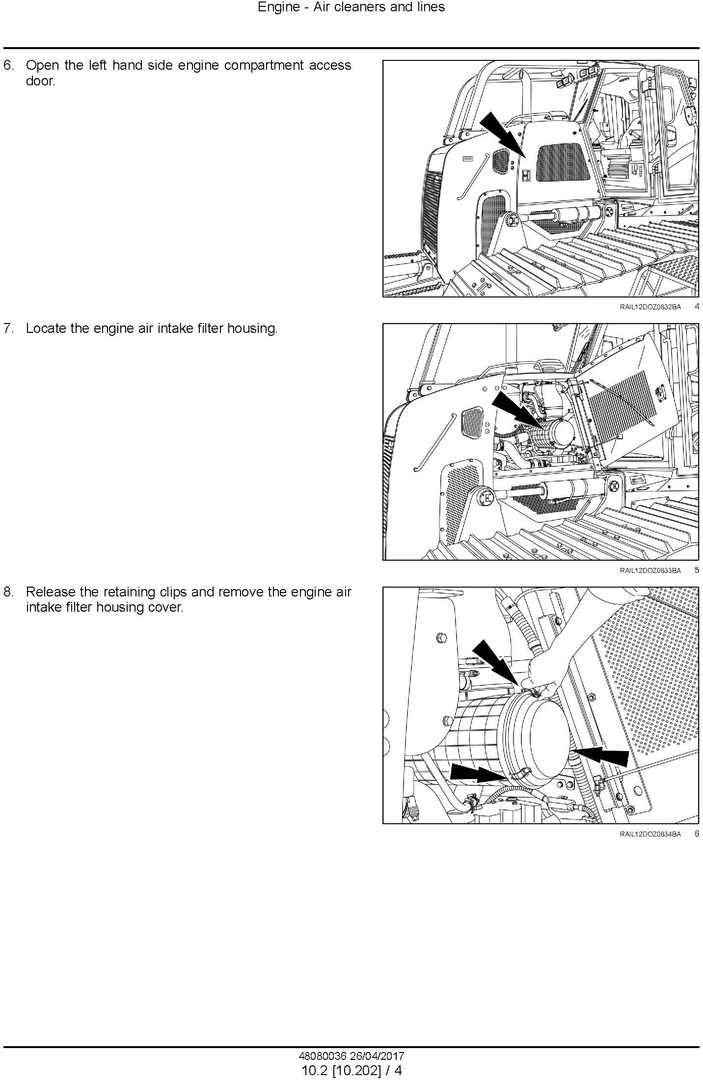 New Holland D125C Tier 2 Crawler Dozer Service Manual - 1
