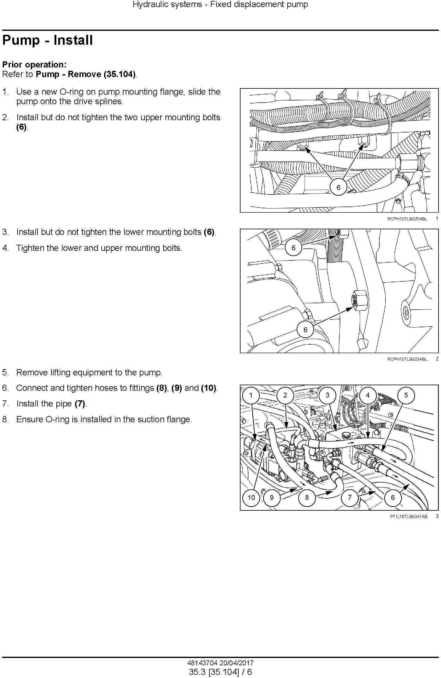 New Holland B80B Backhoe loader Service Manual - 1