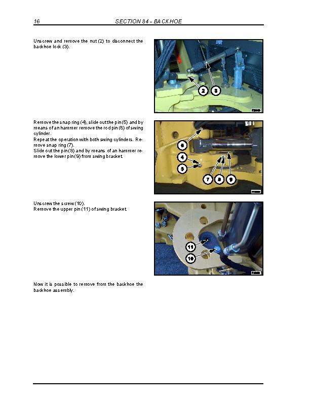 New Holland B95, B95TC, B95LR, B110, B115 Backhoe Loader Service Manual - 1