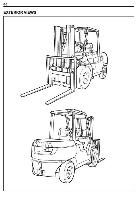 Toyota 7FG35, 7FG40, 7FG45, 7FGK40, 7FGA50 LPG Forklift Truck Workshop Service Manual - 2