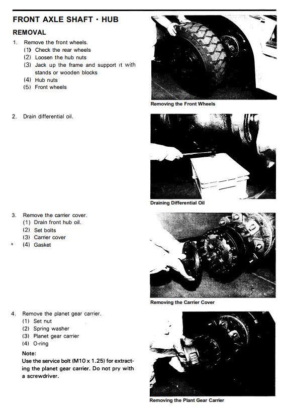 Toyota 5FD50, 5FD60, 5FD70, 5FD80, 5FG50, 5FG60 Forklift Truck Workshop Service Manual (CE007+CE017) - 1
