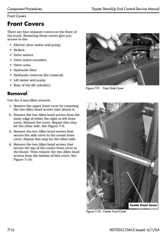 Toyota 7BNCU15,7BNCU18,7BNCU20,7BNCU25 Stand-Up Lift Truck (SN:50001-) Service Repair Manual CL1SM-3 - 1