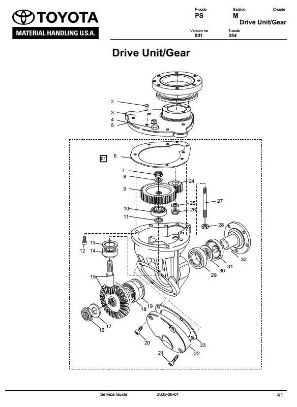 Toyota 6BWS10, 6BWS13 (SN.585890-up) Electric Walkie Stacker Workshop Service Manual (CL3WS-01) - 1