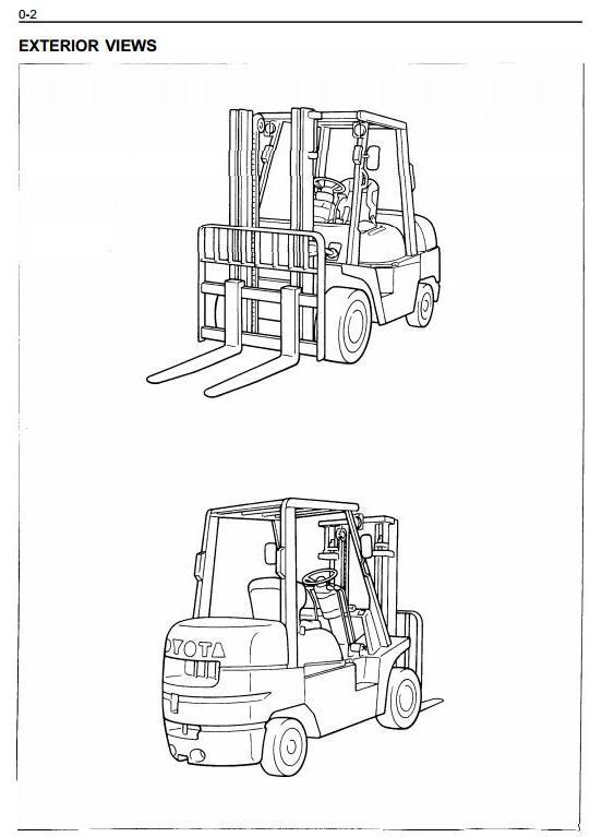 Toyota 6FGCU33, 6FGCU35, 6FGCU45 LPG Gorklift Truck Workshop Service Manual (CU021) - 1