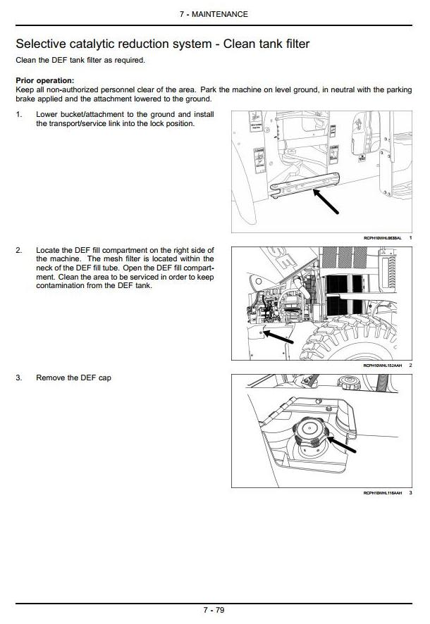Case 621F, 721F (Tier 4) Front Loader Operating and Maintenance Instructions - 2