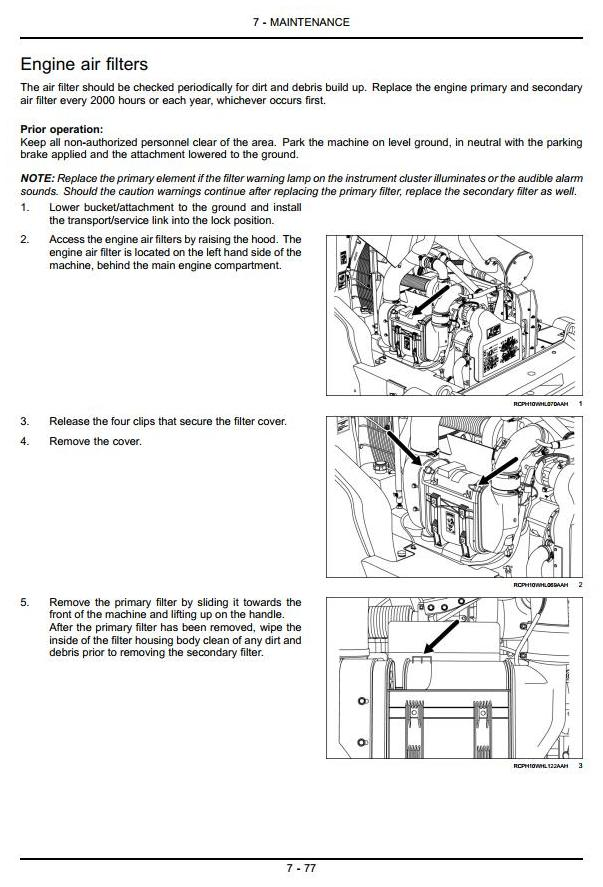 Case 821F, 921F (Tier4) Wheeled Front Loader Operating and Maintenance Instructions - 2