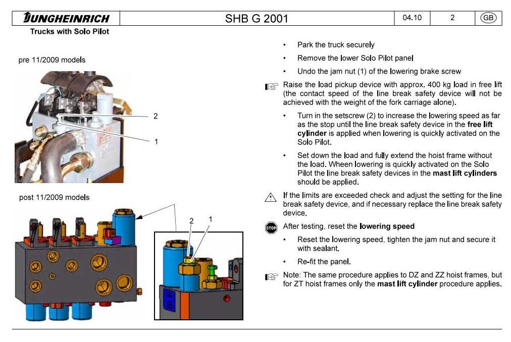 Jungheinrich EFG110, EFG110K, EFG113, EFG115 (01.04-11.09) Electric ForkLift Truck Service Manual - 1
