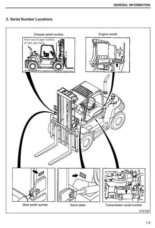 Caterpillar DP80N, DP90N Diesel Forklift Truck Workshop Service Manual - 3