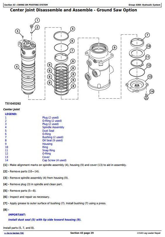 John Deere 2154D Log Loader Service Repair Technical Manual (TM10415) - 2