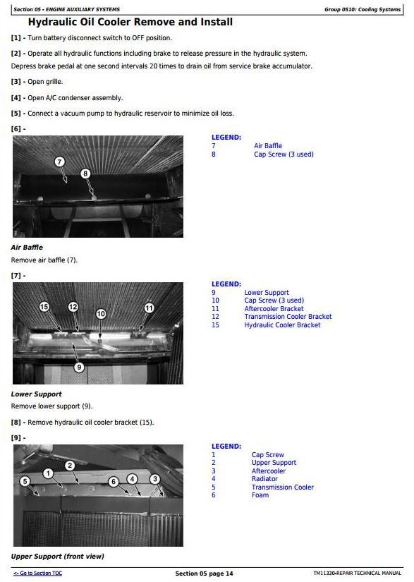 John Deere 540H Cable Skidder and 548H Grapple Skidder (SN.-630435) Service Repair Manual (TM11330) - 1
