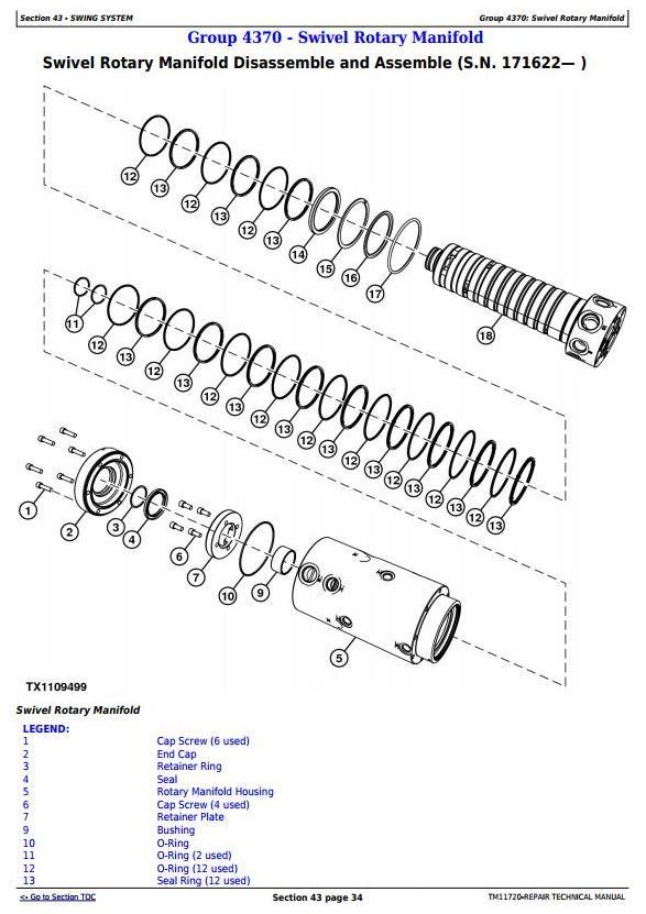 John Deere 335D (SN.C184061-) Knuckleboom Trailer Mount Log Loader Servcie Repair Manual (TM11720) - 2