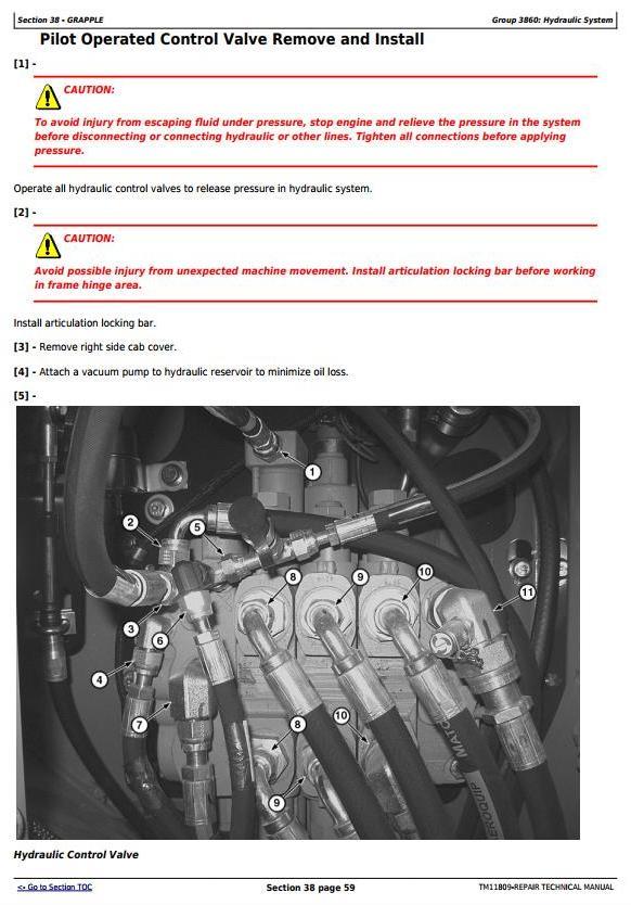John Deere 540H Cable Skidder and 548H Grapple Skidder (SN.630436-) Service Repair Manual (TM11810) - 2