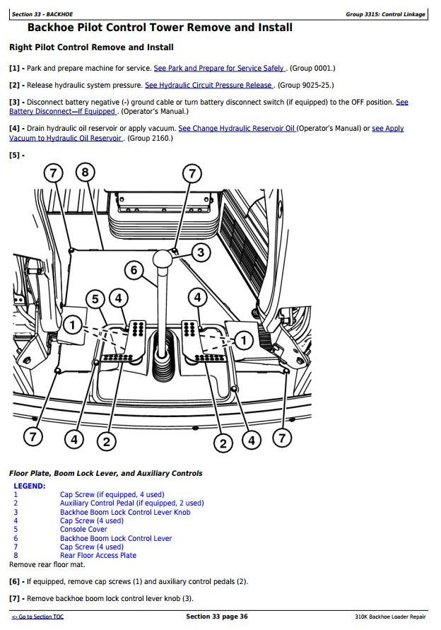 John Deere 310K Backhoe Loader (SN. D219707-; C219607-) Service Repair Technical Manual (TM12448) - 2