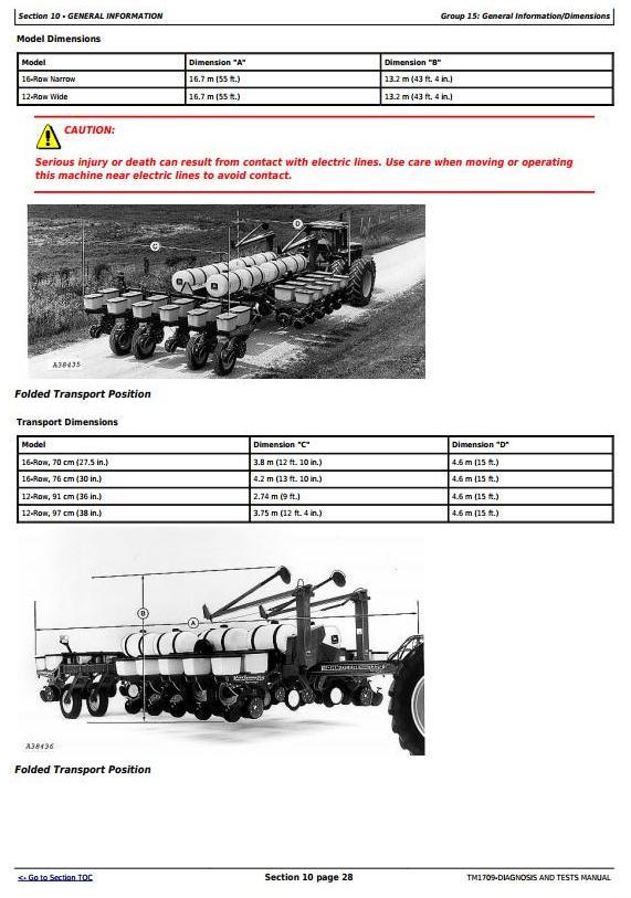 John Deere 1770 12RW-36, 12RW-38, 16RN-30, 24RN-30 plus Planters Diagnostic Service Manual (TM1709) - 3
