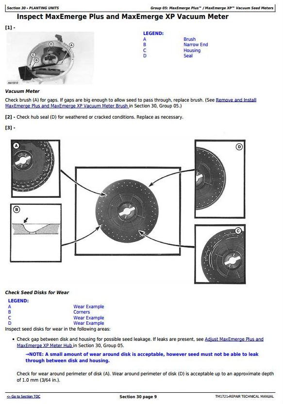 John Deere 1700, 1710, 1720, 1730, 1750, 1780 Planters (SN.-740100) Technical Service Manual TM1721 - 1