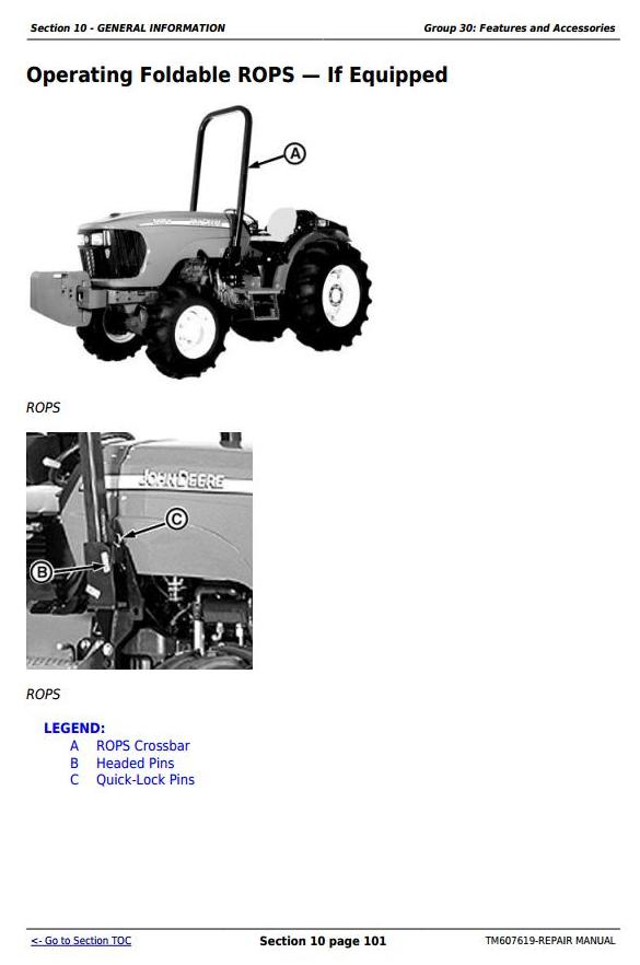 John Deere 5076EF Tractors Service Repair Technical Manual (TM607619) - 2