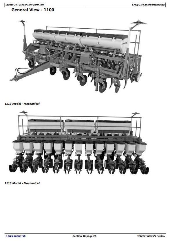 John Deere 1107, 1109, 1111, 1113, 2109, 2111, 2115 Planters Technical Service Manual (TM8295) - 3
