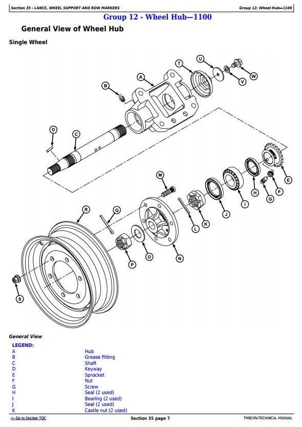 John Deere 1107, 1109, 1111, 1113, 2109, 2111, 2115 Planters Technical Service Manual (TM8295) - 2