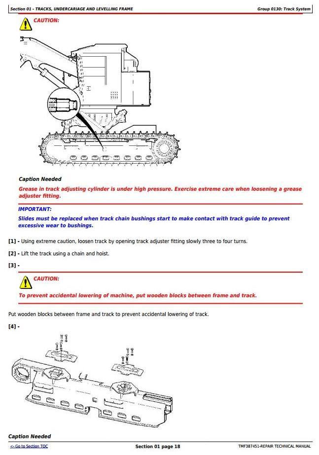 John Deere Timberjack/ 753GL, 608L Tracked Feller Buncher (Harvester) Service Repair Manual (TMF387451) - 1