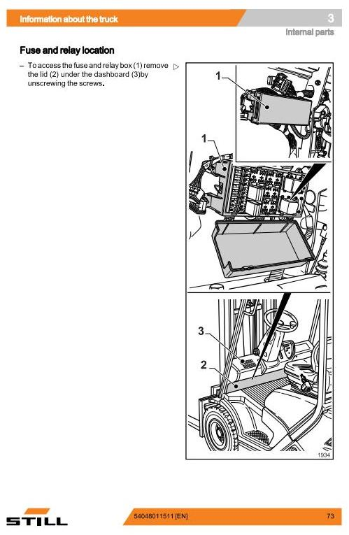 Still RC41-25T, RC41-30T LPG Forklift Truck Series 4094, 4095 Operating and Maintenance Instructions - 1