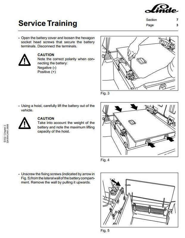 Linde E15, E16 Explosion Protected Electric Forklift Truck 324-02 Series Service Training Manual - 2