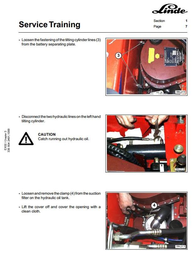 Linde E25, E30 Explosion Protected Electric Forklift Truck 336 Ser. Service Training Workshop Manual - 1