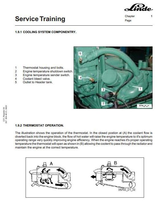 Linde C4026, C4030, C4230, C4234, C4531, C4535, C4540 Trucks 357-02 Series Service Training Manual - 1