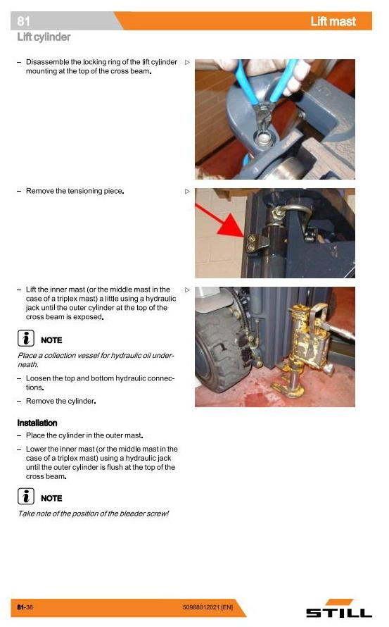 Still RC40-16, RC40-17, RC40-18, RC40-20, RC40-25, RC40-30, RC40-33,RC40-35 Forklift Workshop Manual - 2