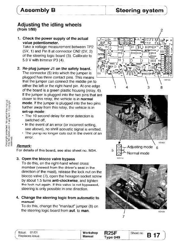 Linde R25F Electric Reach Truck 049 Series Service Training (Workshop) Manual - 1