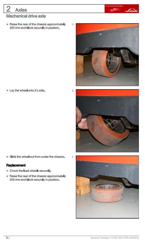 Linde R10C, R12C, R14(,C,N); R16 & R20(,N,HD) Reach Truck 115-11/12 Series Service Training Manual - 1