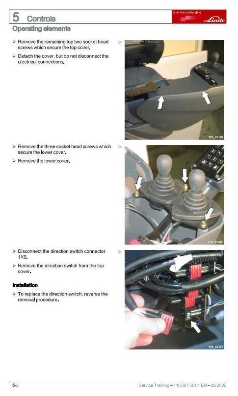 Linde R14X, R16X, R17X, R17XHD Electric Reach Truck 116 Series Service Training (Workshop) Manual - 1