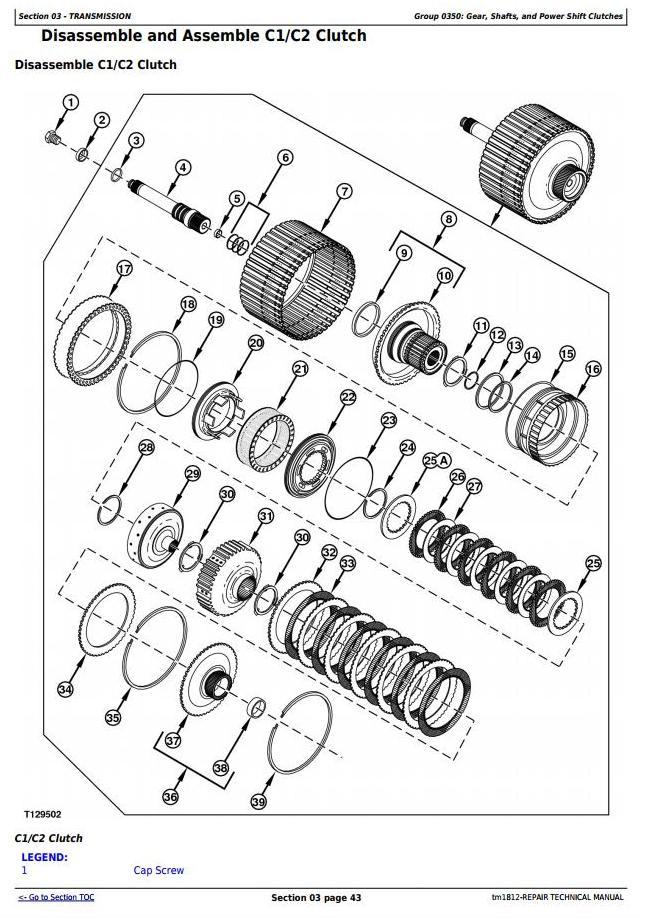 John Deere Bell B25C Articulated Dump Truck Service Repair Technical Manual (tm1812) - 2