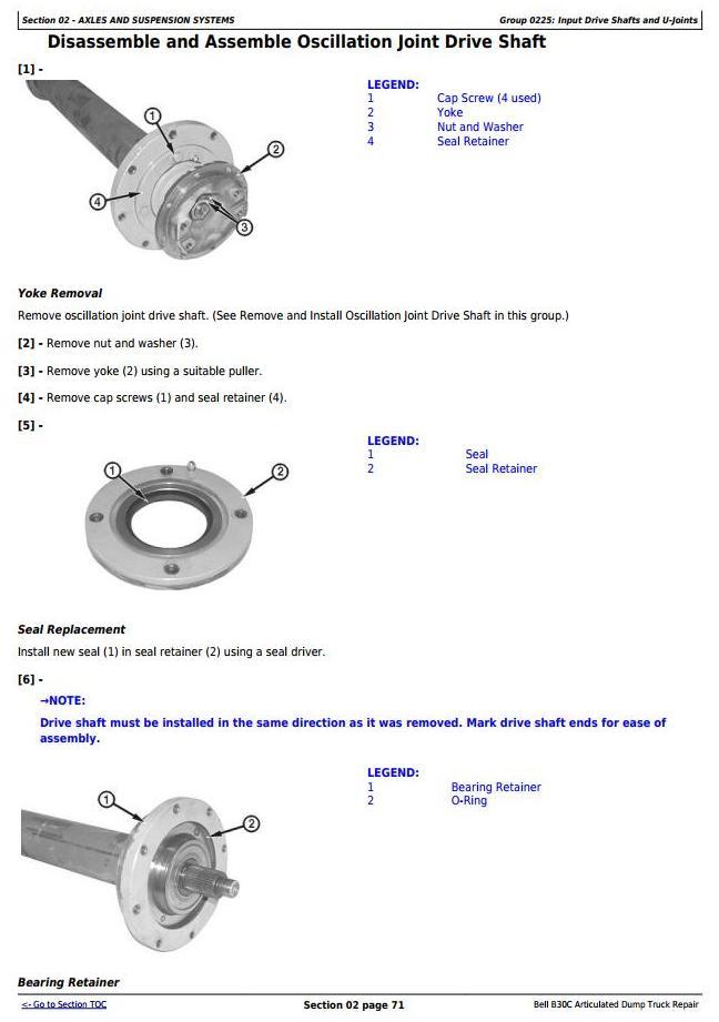 John Deere BELL B30C Articulated Dump Truck Service Repair Technical Manual (tm1814) - 1