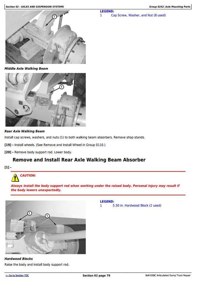 John Deere BELL B30C Articulated Dump Truck Service Repair Technical Manual (tm1814) - 2