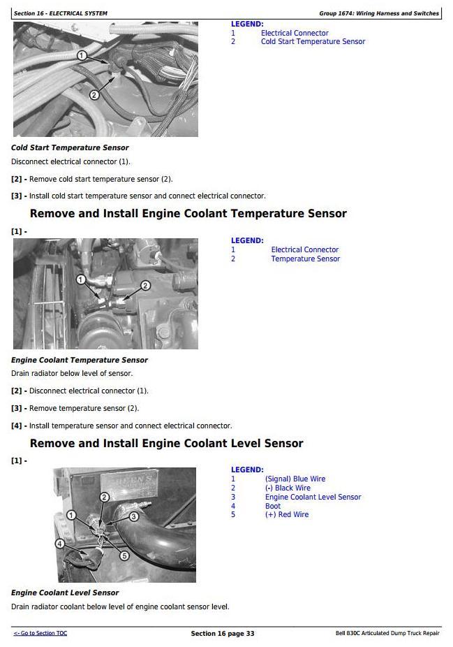 John Deere BELL B30C Articulated Dump Truck Service Repair Technical Manual (tm1814) - 3