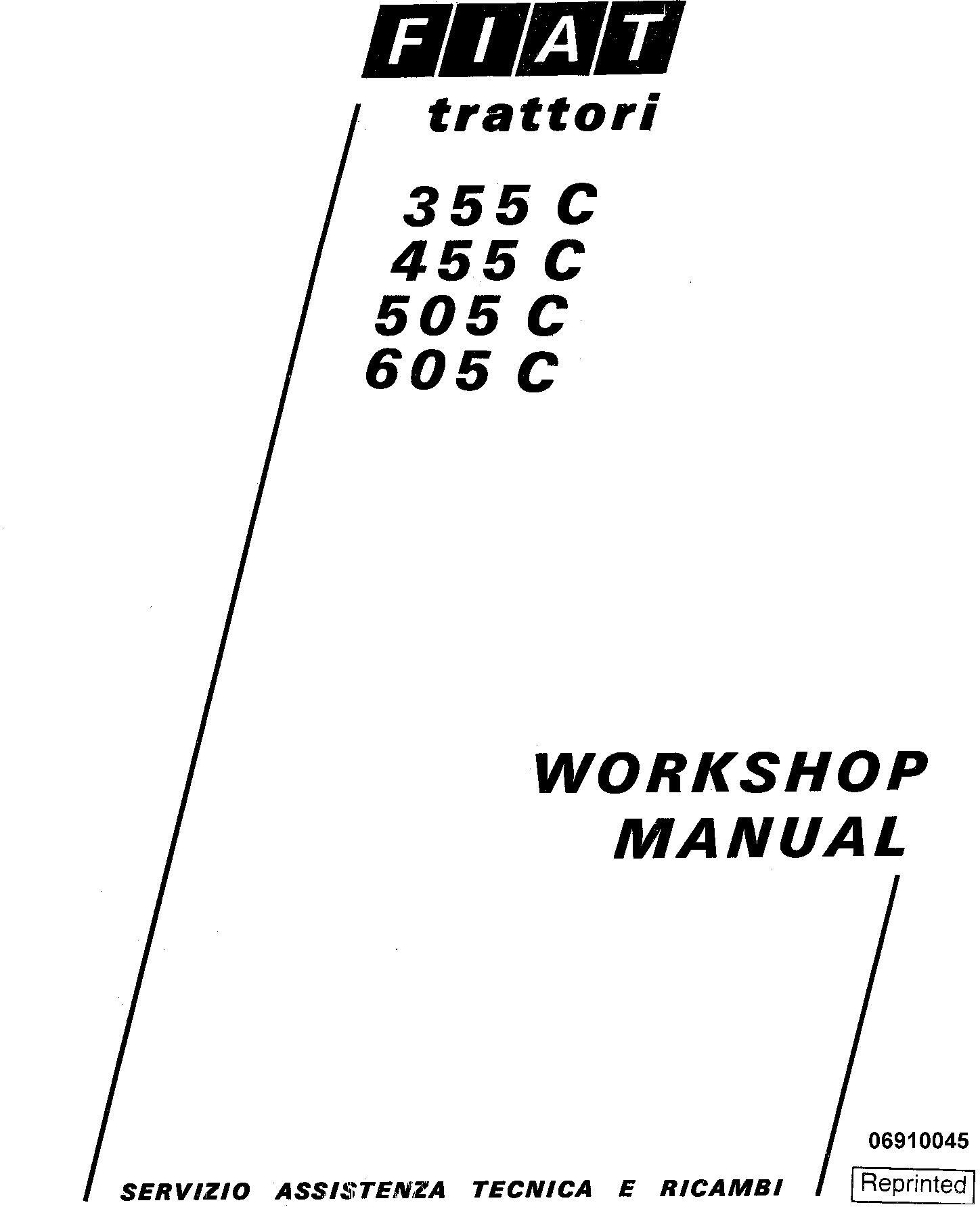 Fiat 355C, 455C, 505C, 605C Crawler Tractor Workshop Service Manual (6035416200)