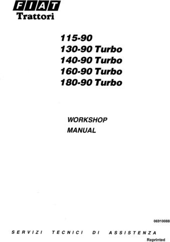 Fiat 115-90, 130-90, 140-90, 160-90, 180-90 Turbo Tractor Service Manual