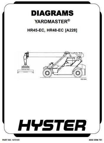 Hyster HR45-EC, HR48-EC Diesel Counter Balanced Truck Type A228 Workshop Service Manual