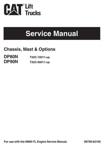 Caterpillar DP80N, DP90N Diesel Forklift Truck Workshop Service Manual